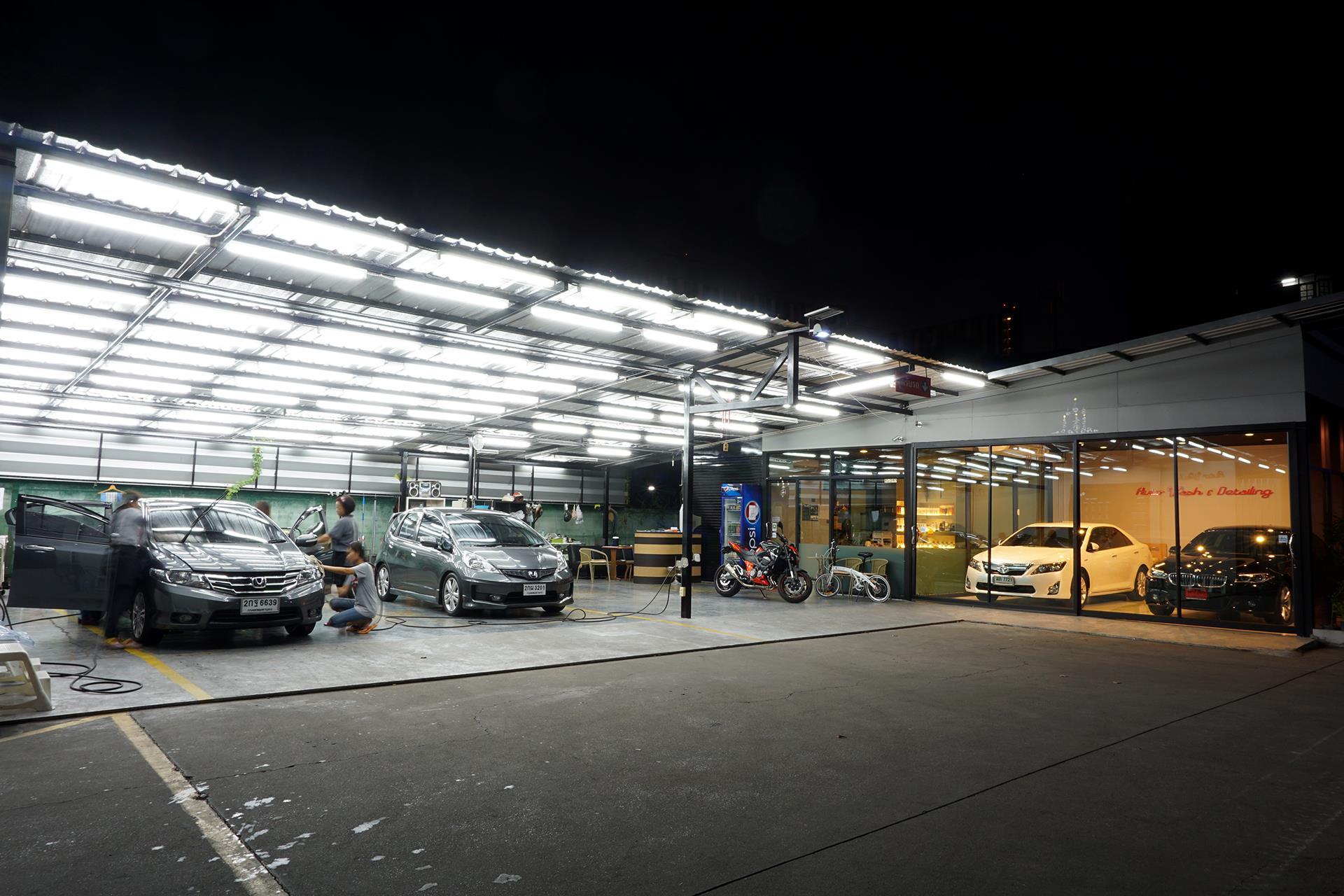 thiết kế tiệm rửa xe ô tô