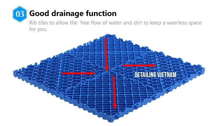 tấm lót sàn nhựa chịu lực PP của SDMATS