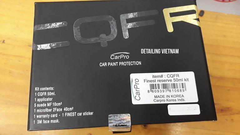 Phủ ceramic chính hãng CarPro Hàn Quốc