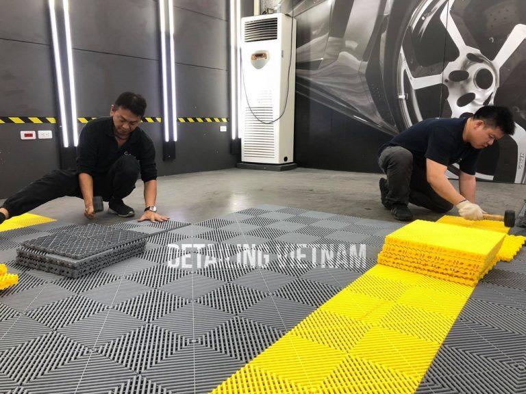 Thi công sàn nhựa chịu lực