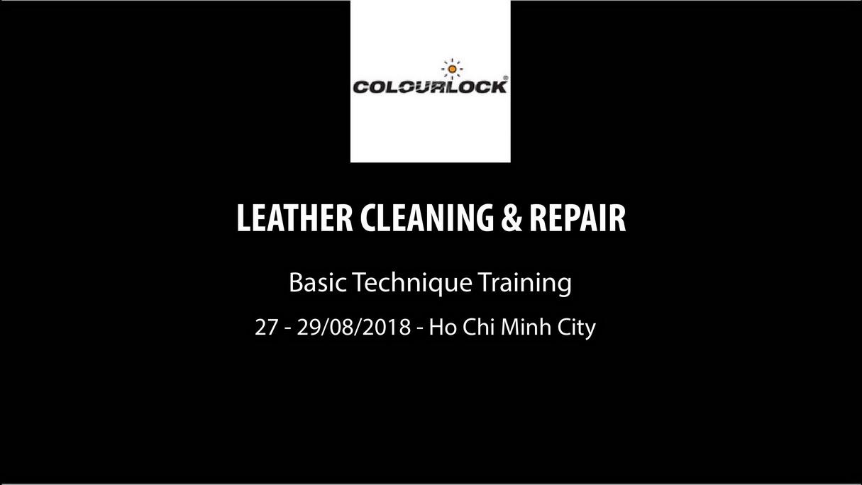 Khóa học vệ sinh và phục hồi ghế da Colurlock Leather Cleaning and Repair Basic