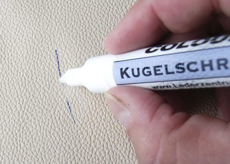 tẩy mực bút bi trên ghế da