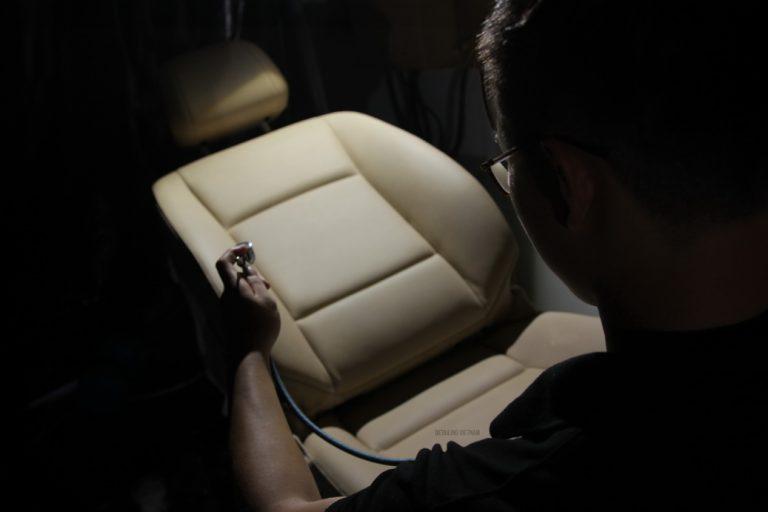 Phục hồi ghế da bị trầy xước bằng công nghệ Đức