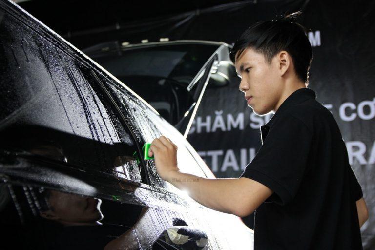 Quy trình dán phim PPF bảo vệ sơn xe