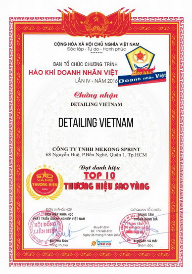 detailing vietnam top 10 gold star brand